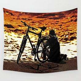 Chilling by the river Wall Tapestry