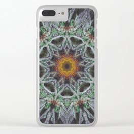 Crystal Feather Leaf Clear iPhone Case