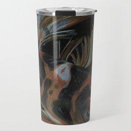 Koi fish on black Travel Mug