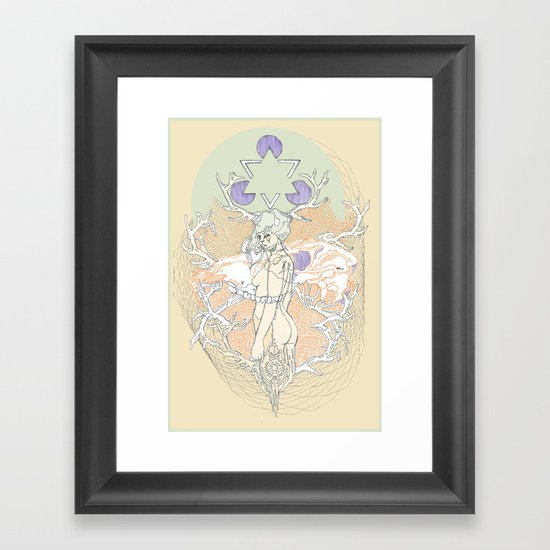 resin & blue Framed Art Print
