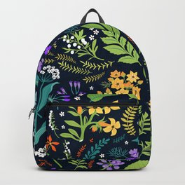 Pattern with flowers. Modern floral background. Backpack