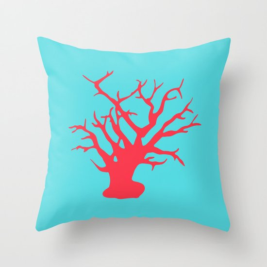 CORAL REEF 3 Throw Pillow