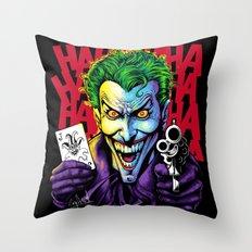 The Joker Laughs Last Throw Pillow