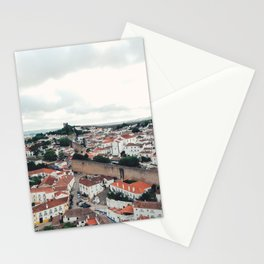 Aerial of Óbidos, Portugal Stationery Cards