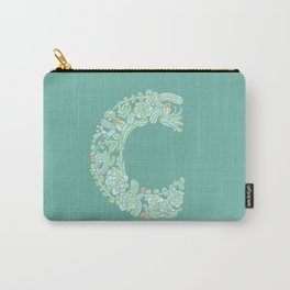 Floral Type - Letter C - Potted Cactus Carry-All Pouch