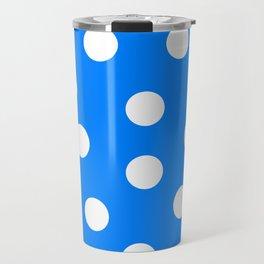 Polka Dots - Azure and White Travel Mug