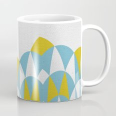 Modern Day Arches Blue and Yellow Mug