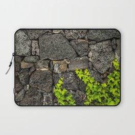Ivy growing on volcanic rocks Laptop Sleeve