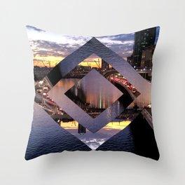 Beautiful Brisbane River - Geometric Design Throw Pillow