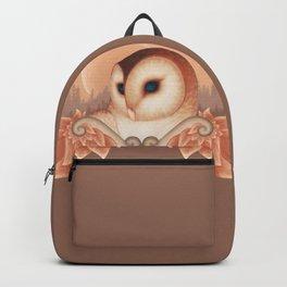 Peach Barn Owl Backpack