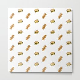 Hamburgers & Hot Dogs Metal Print