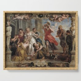 Neoclassical art tapestry Serving Tray