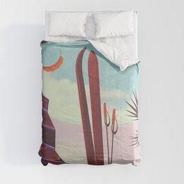 Falls Creek, Northeastern Australia Ski poster, Comforters