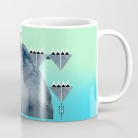 ape Mugs featuring Barbary Ape by QUEQZZ