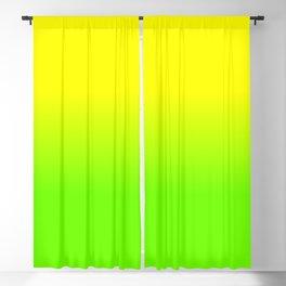 Neon Yellow and Neon Yello Green Ombré  Shade Color Fade Blackout Curtain
