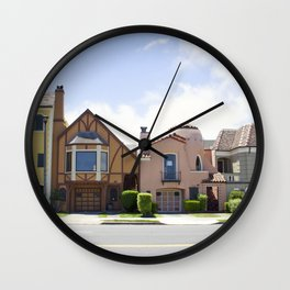 San Francisco beautiful houses Wall Clock