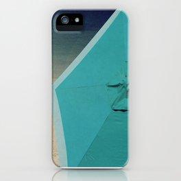 Aqua Beach Umbrella iPhone Case