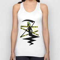 durarara Tank Tops featuring Celty the Dullahan by SamyyChang