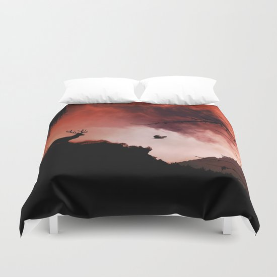 Dramatic cloudy scenery Duvet Cover