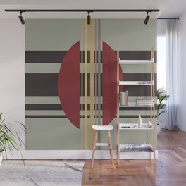 Midcentury Abstract Stripes 'Loom' Wall Mural