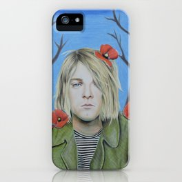 Kurt C Poppy Flower design II colored pencil (more prints/products available) iPhone Case