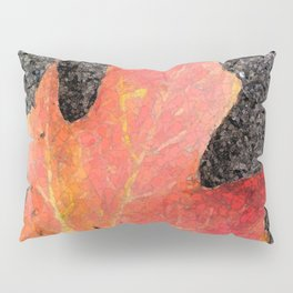 Water color of a sugar maple leaf Pillow Sham