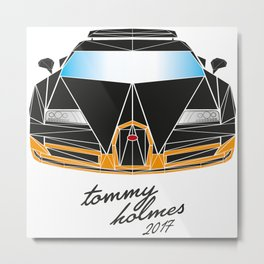 Black Bugatti Veyron made out of triangles Metal Print