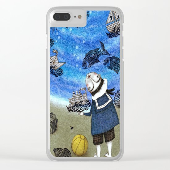 Day on the Beach Clear iPhone Case