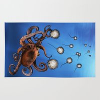 octopus Area & Throw Rugs featuring Octopus by Anna Shell
