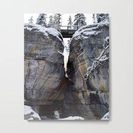 The gates of Maligne Canyon Metal Print