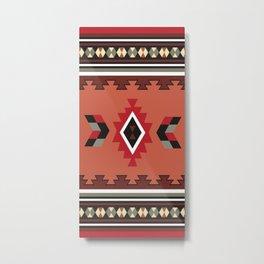 American Native Pattern No. 603 Metal Print