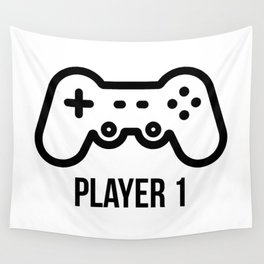 Player 1 Wall Tapestry