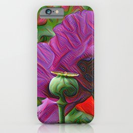 DeepDream Flowers, Poppy, DeepDream style iPhone Case