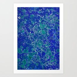 Mapping My Mind Art Print