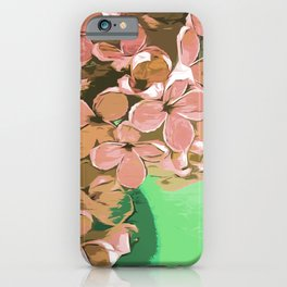 Delicate pink lilac flower bouquet, romantic drawing in pastel colors iPhone Case