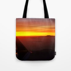 Sunset at 30,000 Feet Tote Bag