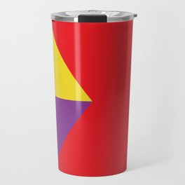 Mountains, or waves, or letters M, or polygons... all in a red carpet. Travel Mug