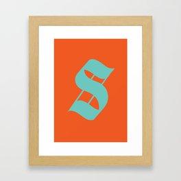 """Character """"S"""" Framed Art Print"""