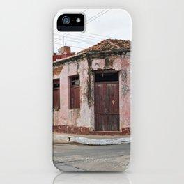 Trinidad Cuba Streets Old City Latin America Tropical Island Caribbean Sea Calle Casa Edificio Archi iPhone Case