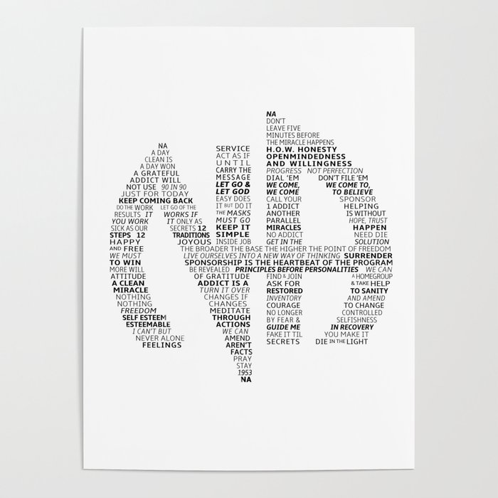 Narcotics Anonymous Symbol in Slogans Poster by ...