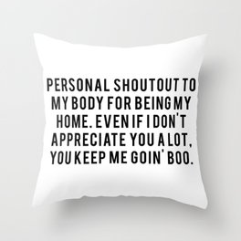 Personal Shoutout Throw Pillow