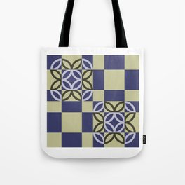 Checkered Circles Pattern Tote Bag