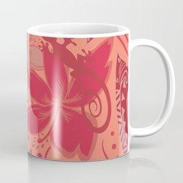 Samoa Watermelon Polynesian Floral Coffee Mug