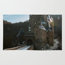 Fairytale Castle in a winter forest in Germany - Landscape and Architecture Rug
