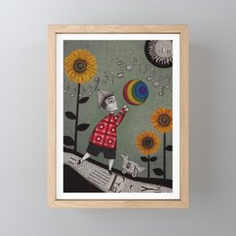 Henry's Rainbow Framed Mini Art Print