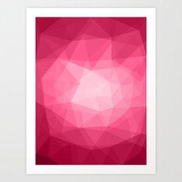 Geometric Polygonal Pattern 02 Art Print