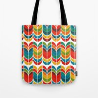 funky Tote Bags featuring Tulip by Picomodi