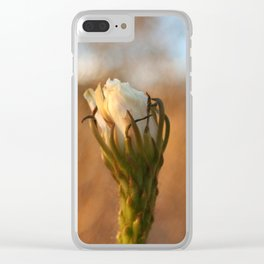 Cactus Bloom Clear iPhone Case