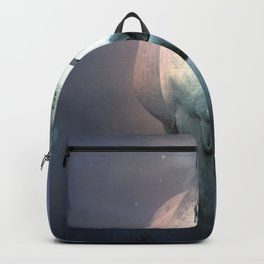 White Horse Galloping Frontal Ultra HD Backpack