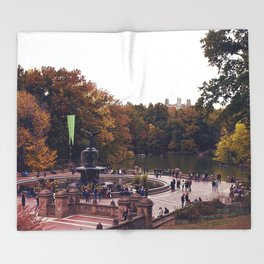 Central Park Is The Perfect Subject Throw Blanket